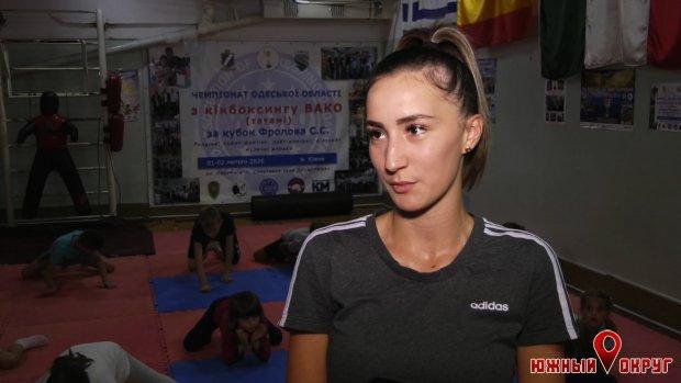 Екатерина Гладкая, тренер-преподаватель секции по кикбоксингу Южненской ДЮСШ.