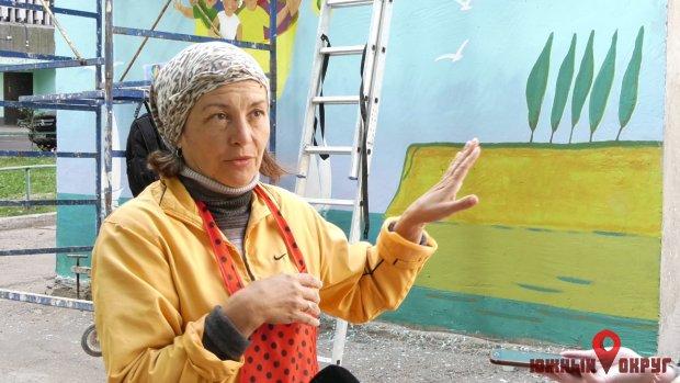 Лариса Демьянишина, художница, автор мурала