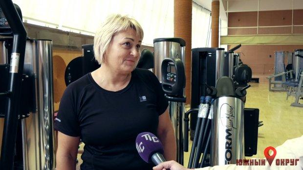 """Нина Деркач, посетитель тренажерного зала ФСК """"Олимп""""."""