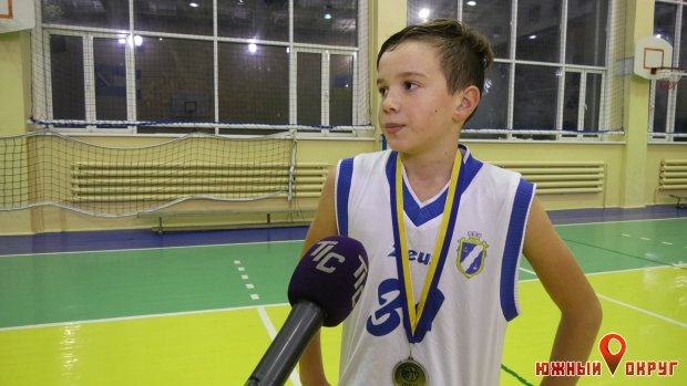 Назар Сергеев, игрок баскетбольной команды ЮДЮСШ-2009.