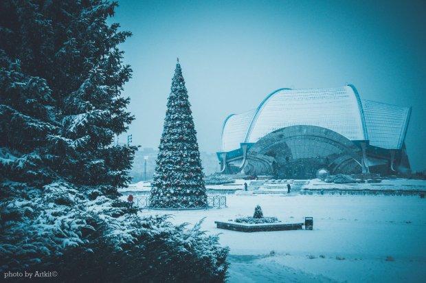 ВЮжном выпал первый снег (фотофакт)