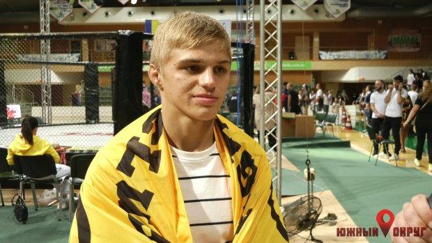 "Никита Зубаль, победитель турнира ""Yuzhny fight cup"" среди аматоров."